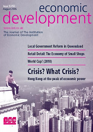 Institution of Economic Development Newsletter, August 2006 - Front Cover!